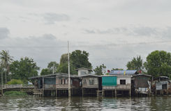 The riverfront house in Bangkok Stock Image