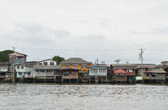 The riverfront house in Bangkok Royalty Free Stock Images
