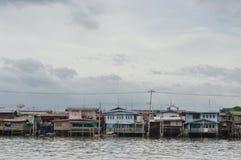 The riverfront house in Bangkok Stock Photos