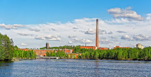 Riverfront papermill Royalty Free Stock Photography