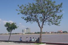 Riverfront in Phnom Penh Royalty Free Stock Image