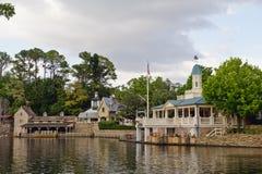 Riverfront plantation Stock Image