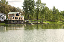 Riverfront properties, Woodland WA. Royalty Free Stock Images