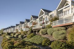 Riverfront condominiums properties Vancouver WA. Stock Photos