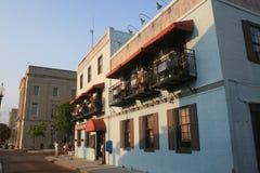 Riverfront steet σε Wilmington, NC. Στοκ Φωτογραφία