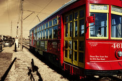 Traditional New Orleans street car  Stock Images