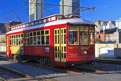 Riverfront Streetcar royalty free stock images