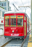 Riverfront streetcar in New Orleans Stock Images