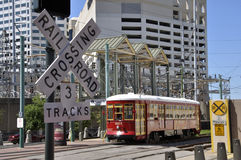 Riverfront trolley Royalty Free Stock Photos