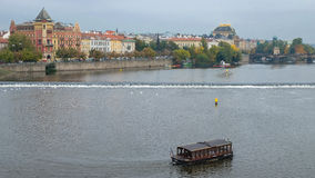 Riverfront of Vltava, Prague, Czech Republic Stock Image