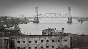 riverfront wilmington för uddskräcknc Arkivfoton