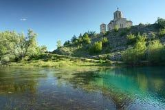Riverhead do rio Cetina em Croatia imagem de stock royalty free