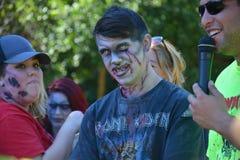 Riverhead NY, Etats-Unis, septembre 2014 - course de zombi Images libres de droits