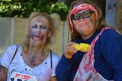 Riverhead NY, Etats-Unis, septembre 2014 - course de zombi Photos stock