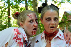 Riverhead NY, Etats-Unis, septembre 2014 - course de zombi Image stock