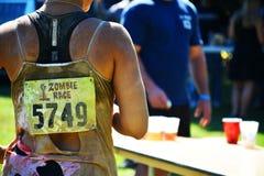 Riverhead NY, Etats-Unis, septembre 2014 - course de zombi photo stock