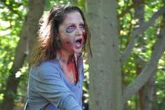 Riverhead NY, U.S.A., settembre 2014 - corsa dello zombie Immagine Stock