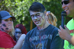 Riverhead NY, USA, September 2014 - Zombie Race royalty free stock images
