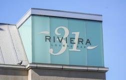 Riveria 31休息室酒吧在贝弗利中心-洛杉矶-加利福尼亚- 2017年4月20日 免版税库存照片