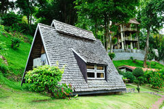 Riverkwai Cabin Tropical Resort in Kanchanaburi Royalty Free Stock Photo
