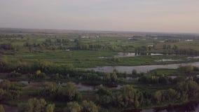 Riverland sjöflod arkivfilmer