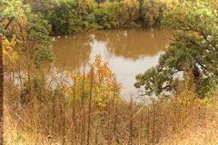 Riverpath. MInnesota river in the fall Royalty Free Stock Images