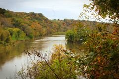 Riverpath. MInnesota river in the fall Stock Image