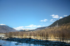 Rivers in arid mountains In the spring. Kashmir ,Indian Royalty Free Stock Images