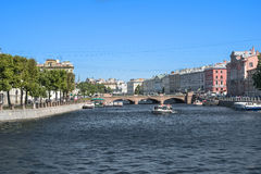 Rivers and canals of St. Petersburg. Fontanka .Reka Stock Photos