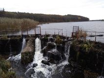 Rivers. The dam on the river,beautiful nature, forest, beauty,water,bushes, seething water Stock Photos