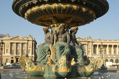 Rivers fountain in Paris Royalty Free Stock Photos