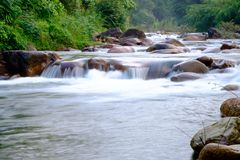 Rivers in streams that flow through the rocks Royalty Free Stock Photo