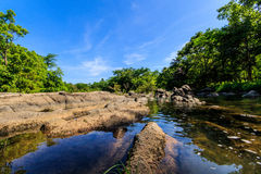 Rivers, streams and rivers. Natural sources are called whitewater rapids orange cat Ratchaburi , Thailand stock photography