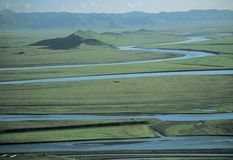 Rivers in  Tibet. Upper reaches  of Huanghe,or Yellow river,the  second largest river in China Stock Photography
