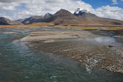 Rivers in  Tibet. A  very clean  river above 15000 feet Stock Images