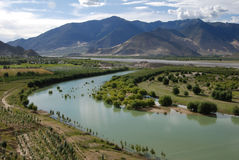 Rivers in  Tibet. Yarlung Zangbo river in Sangri,Lhoka ,Tibet Royalty Free Stock Photos