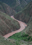 Rivers in  Tibet. Upper reaches of  Mekong  river  in east Tibet.which is  called Lancang river in Chinese Stock Photos