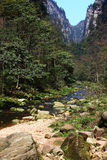 Rivers in zhangjiajie mountains Royalty Free Stock Photos