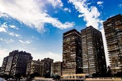 Riverscape Нила в Каире, Египте стоковые фотографии rf