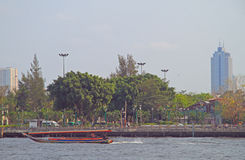 Riverscape in Bangkok, the capital of Thailand Stock Photography
