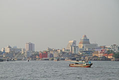 Riverscape in Bangkok, the capital of Thailand Royalty Free Stock Photo