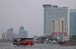 Riverscape in Bangkok, the capital of Thailand Royalty Free Stock Images