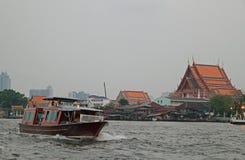 Riverscape in Bangkok, the capital of Thailand Stock Photos