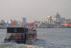 Riverscape in Bangkok, the capital of Thailand Stock Photo