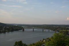 Riverscape na rzece ohio obrazy stock