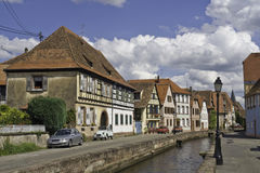 riverscape wissembourg do Obraz Royalty Free