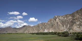 Riversid do rio de Lhasa Fotografia de Stock Royalty Free