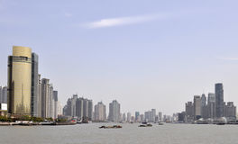 Riverside. It's Shanghai Huangpu riverside buildings Royalty Free Stock Images