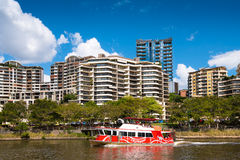 Riverside apartment buildings in Brisbane Stock Photos