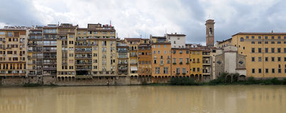 Riverside of Arno river, Florence, Italy Stock Images